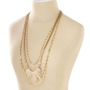 Stella and Dot | Zuni Gold Layered necklace